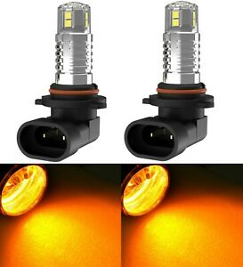 LED 20W 9045 Orange Two Bulbs Fog Light Replacement Plug Play Upgrade Stock Fit