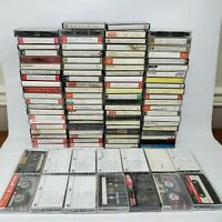 Lot 100 Cassette Tapes Pre-recorded Sold as Used Blanks -TDK MAXELL Others Blank