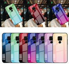 For Huawei Mate 20 Pro Lite P20 40 Gradient Tempered GLASS BACK Slim Case Cover