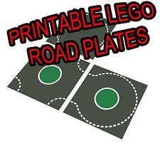 """LEGO 11""""x17"""" Printable Road Plate Roundabout Dark Gray PDF on CD New style"""