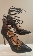 RIVER ISLAND Black Strappy Lace-up Stiletto High Heel Shoes Size UK 5 EU 38 New