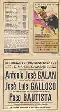 Folleto de mano doble. Plaza de toros de Algeciras. Año 1973.