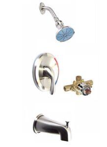 Gerber OEM Brushed nickle Single Handle Tub/ Shower Trim Kit, With Shower Body