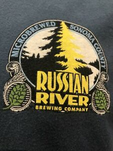 Russian River Brewing Company Blue Large T-Shirt Santa Rosa California Beer