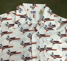 Vintage Mens L 70s Chicago Bears NFL Football Graphic Team Button-Up Dress Shirt