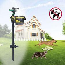 Motion Activated Solar Animal Repeller Water Spray Garden Sprinkler Scarecrow