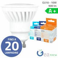 Lampadine LED GU10 10W 900lm Calda Fredda Naturale IP22 Ceramica A+