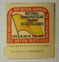 Socialist German Political Party WW Political & Patriotic Poster Stamp
