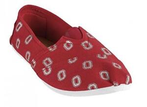 2015 NCAA Womens College Ladies Canvas Slip-On Summer Shoes - Pick Team (Ohio St