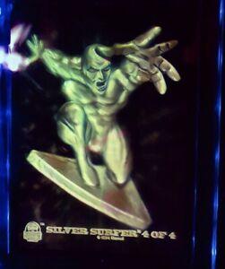 Fleer SILVER SURFER Hologram 🌌Marvel Universe 3D Card  🌌Ultra-Pro Screwdown