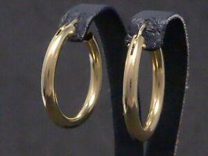Ohrringe 585 GOLD 14 Karat earrings Creolen Kreolen Goldohrringe Gelbgold