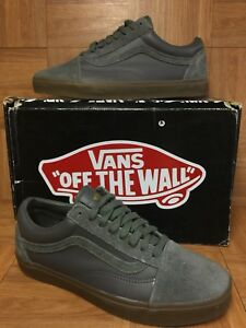 RARE🔥 VANS x Supreme Old Skool '92 Zero Gray Leather Suede Gum Sz 9.5 Men's