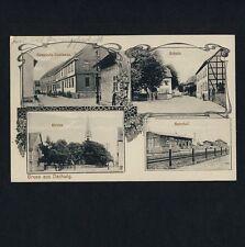 DACHWIG Gotha / Gasthaus Schule Kirche Bahnhof * Jugendstil-AK um 1910