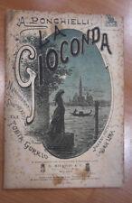 LA GIOCONDA MELODRAMMA A. PONCHIELLI ILL. ALFREDO GORRIO PRIMA RAPPRESENTAZIONE