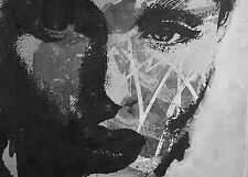 A0 SIZE CANVAS Print black white pop street Art painting girl warhol woman face