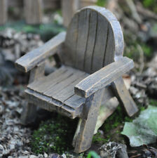 Mini Fairy Garden Wooden Arm Chair Decor Pixie Elf Accessory Ornament NEW 39614