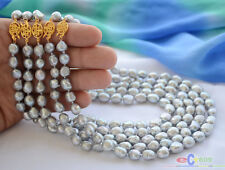 """gray baroque freshwater pearl necklace P4546 wholesale 5pcs 17"""" 9mm"""