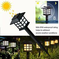 1~8Pack Outdoor Garden Solar Power Pathway Lights Landscape Lawn Patio Yard Lamp