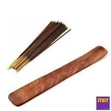 Incense Stick and Wooden Holder Burner Ash Catcher + 20 free Scented Sticks Gift
