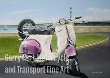 "Vespa GS150 Scooter Art Mini Print 10"" x 8"" Mounted"
