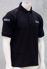 Black Embroidered Security Polo Shirt - 100% Cotton (4 x Embroideries) XS - 5XL