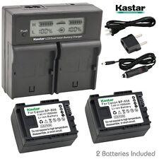 LCD Dual Charger & 2 Battery Canon BP-808 LEGRIA HF S200 HF S21 HF20 HF200 HF21