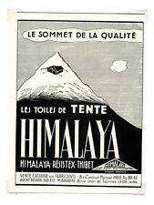 1940 / Publicité pour TOILES DE TENTE HIMALAYA / LD102