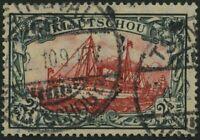 MARSHALL-INSELN 1905, 21/2 $ grünschwarz/dkl`karmin, mit Wz., Friedensdruck,