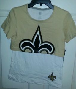 New Orleans Saints girls shirt XL 16  NWT SAINTS Nation.don't forget girls