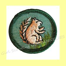 Mammal 1960-62 Only, Intermediate Girl Scout Badge Squirrel Combine Shipping Htf