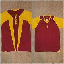 Nike Mens USC Southern California Trojans Football Shirt DRI FIT SIZE MEDIUM