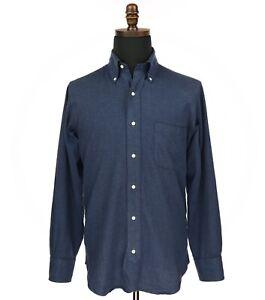 Brooks Brothers Black Fleece Thom Brown Dress Shirt Men's Size BB1 Blue
