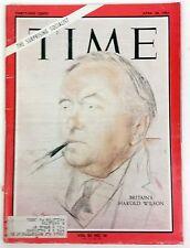 "Britain's Harold Wilson ""The Surprising Socialist."" Time April 30, 1965"