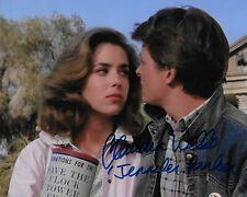 Claudia Wells Espalda A La Futuro Original Autografiada 8X10 Foto #3