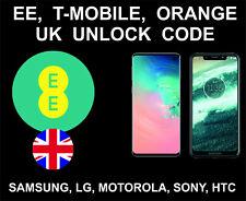 EE Orange T-Mobile UK Network Unlock Code Service, Samsung, Sony, Huawei, LG
