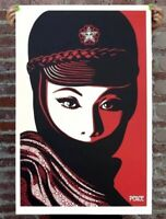 Shepard Fairey Obey PEACE MUJER Signed Print