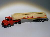 camion citerne SHELL + Scania  réf 364 au 1/100 de Majorette