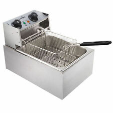 5 Star Chef Commercial Twin Basket Electric Deep Fryer Frying Cooker Fry 20l