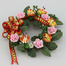 gorgeous mini flowers wreath of flower & for 1/12 scale dollhouse furniture