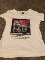 11th Street Cowboy Bar Women's White Pink T-Shirt Size Medium