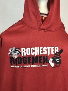 New York Collegiate League Rochester Ridgemen Hoodie Sweat Shirt Men LARGE