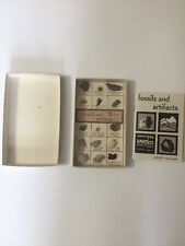 12 Stone Collection Set Labeled Fossils And Artifacts With Scott Study Guide