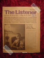 The LISTENER March 28 1974  William Armstrong Desmond Wilcox Alistair Cooke