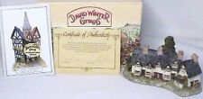 Excellent Retired Signed by David Winter Craftsmens Cottages W/Coa Org/Box