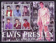 TEMA MUSICA. 2002 GUINEA REP. 25 ANIV. ELVIS PRESLEY 6v.