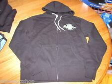 Men's Quiksilver jacket hoodie zip up coat S Jazz Hands Black aqyft00067