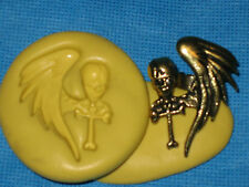 Skull Wing Push Mold Flex Resin Clay Candy Food Safe Silicone #205 Fondant  Wax