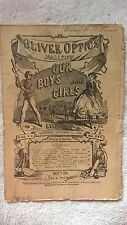 October 23, 1869 Oliver Optics Magazine w/ Ad for Noble Deeds of American Women