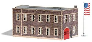 Busch Ho 9732 Kit Fire Station USA#New Original Packaging #