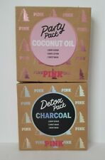 Victoria's Secret Pink Party Pack Coconut Oil & Detox Pack Charcoal. 3 Items.
